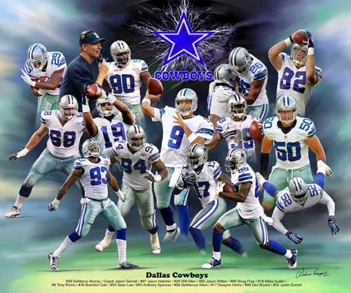 Dallas Cowboys (2013 Version) by Wishum Gregory