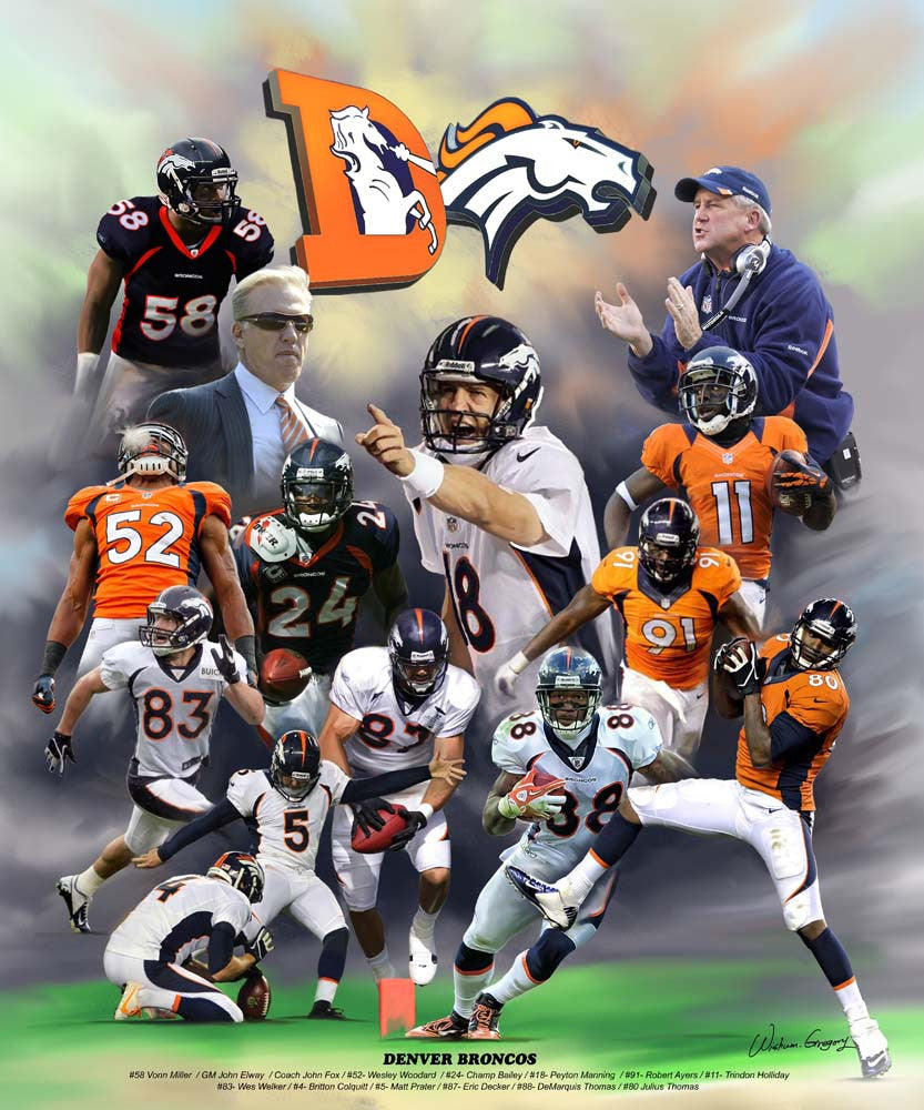 Denver Broncos by Wishum Gregory
