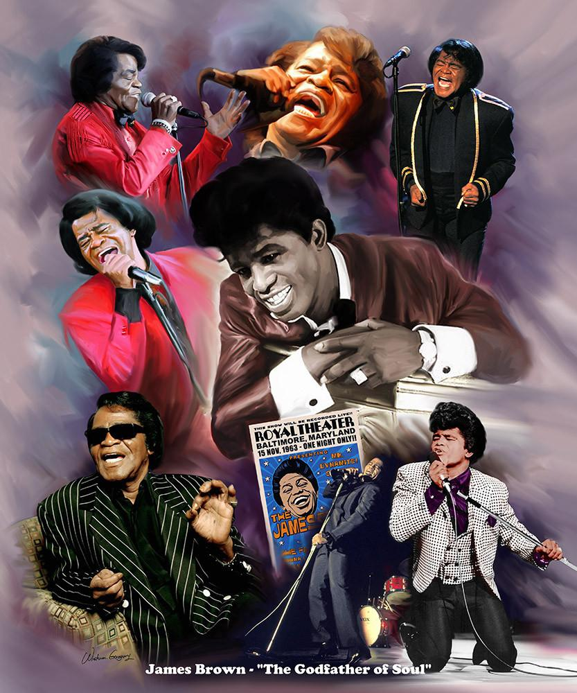 James Brown by Wishum Gregory