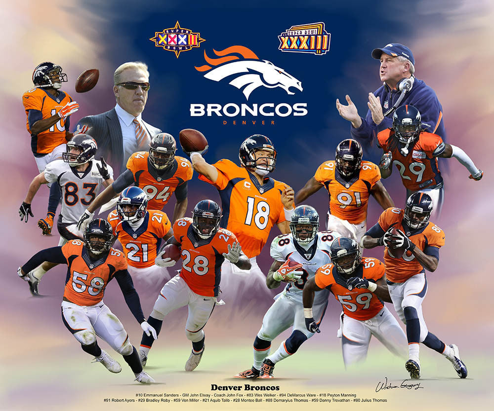 Denver Broncos (2014) by Wishum Gregory