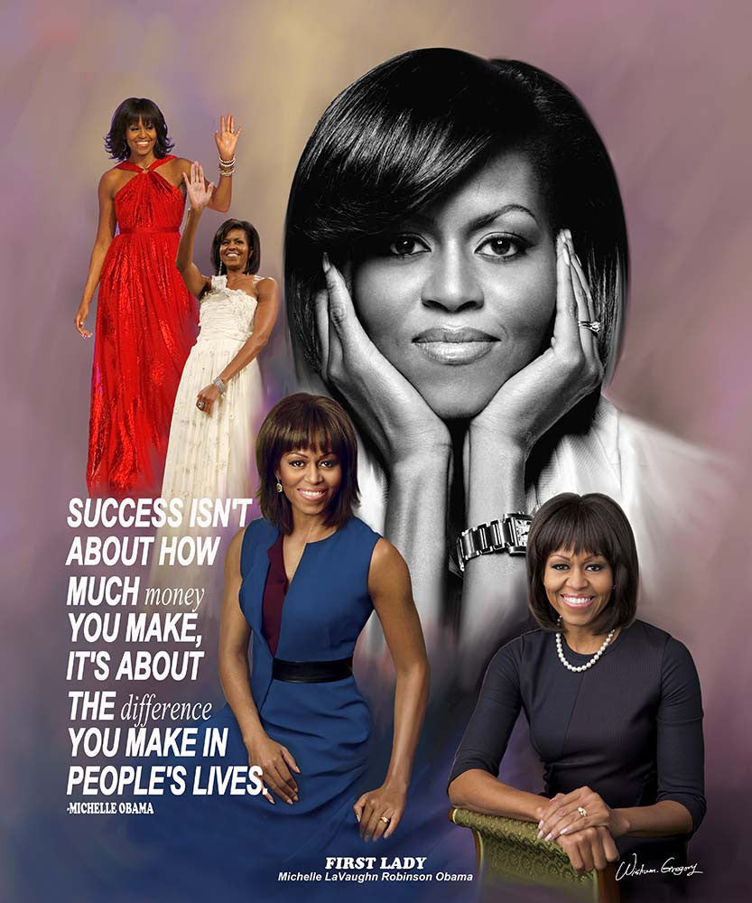 Michelle Obama (Success) by Wishum Gregory (Art Print)
