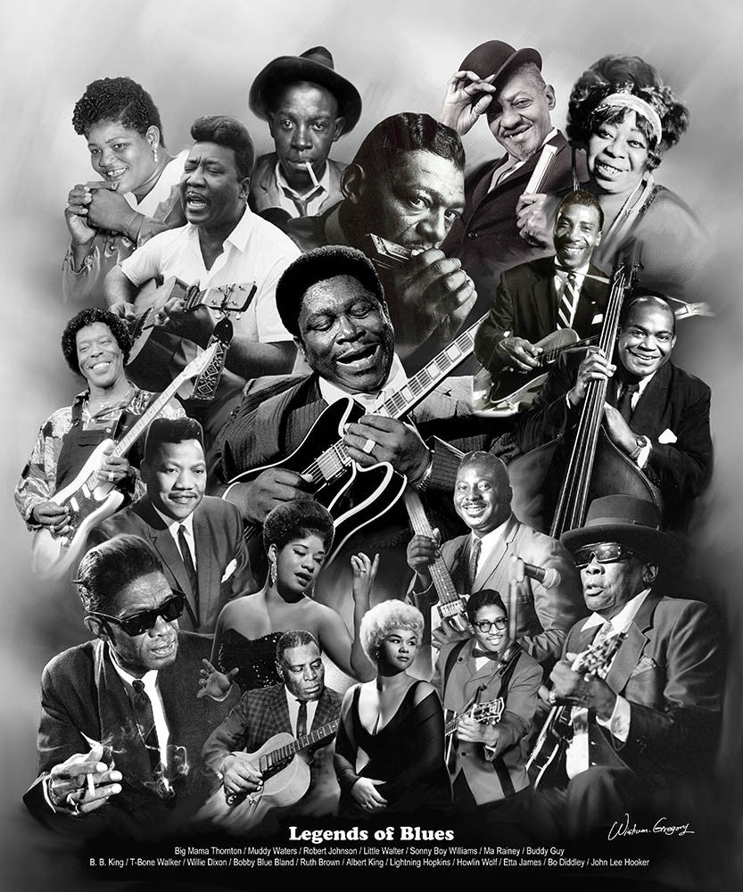 Legends of the Blues by Wishum Gregory (Unframed Art Print)