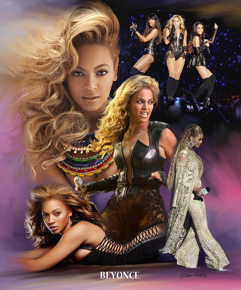 "Beyonce ""Queen B"" Knowles-Carter by Wishum Gregory"