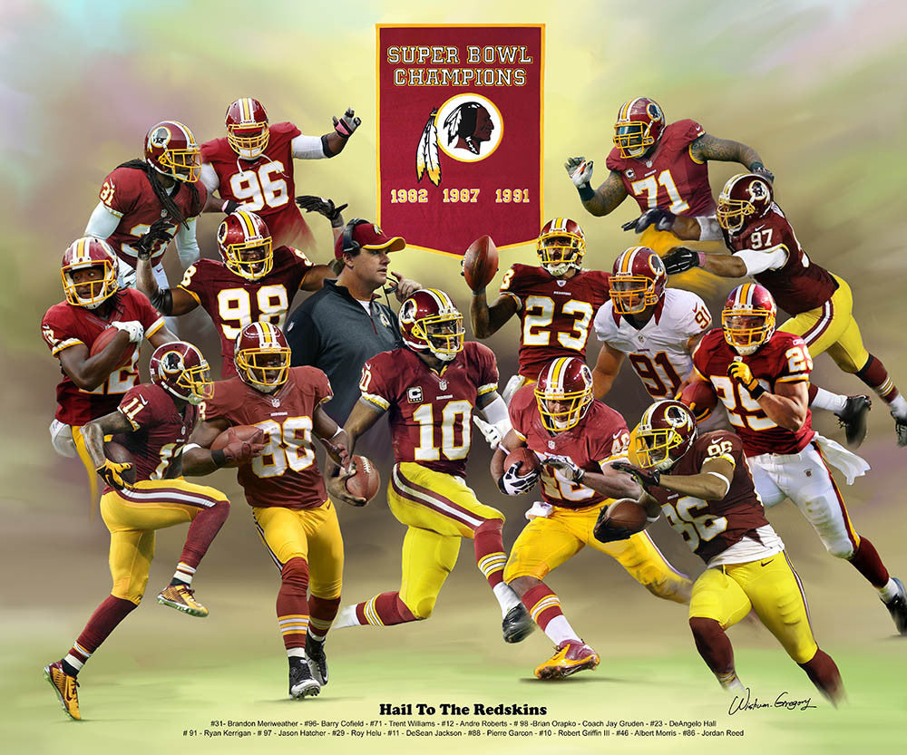 Washington Redskins (2014 Version) by Wishum Gregory