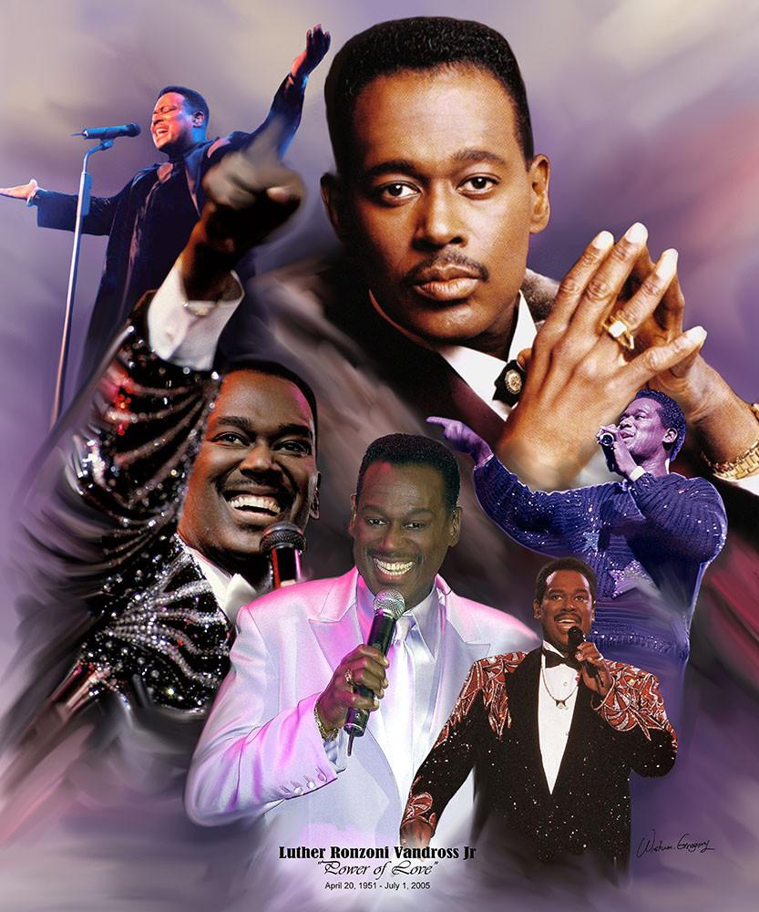 Luther Vandross The Power Of Love By Wishum Gregory Legends Series The Black Art Depot