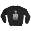 I Am Black Excellence Men's Athletic Sweatshirt by RBG Forever (Black)