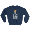 I Am Black Excellence Men's Athletic Sweatshirt by RBG Forever (Navy)
