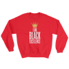 I Am Black Excellence Men's Athletic Sweatshirt by RBG Forever (Red)