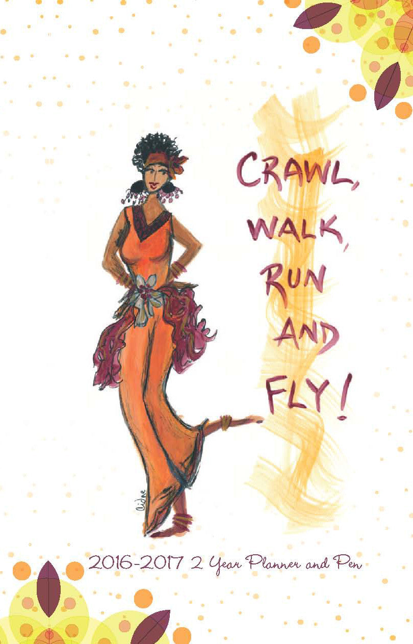 Crawl, Walk, Run & Fly 2016-2017 Checkbook Planner by Cidne Wallace