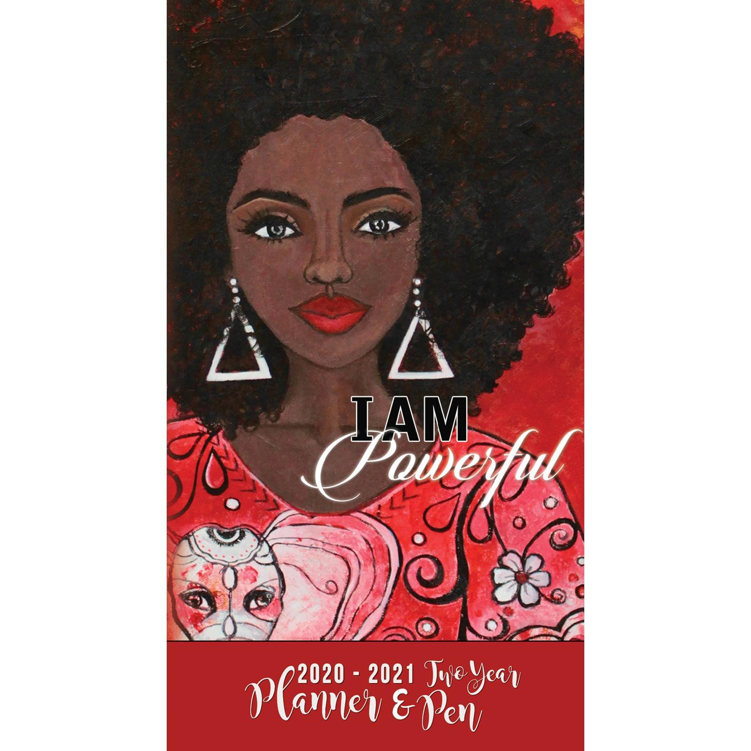 I Am Powerful: 2020-2021 Two Year African American Checkbook Planner by GBaby