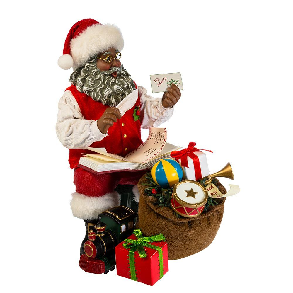 African American Santa Claus with Gifts for the Good Boys ...