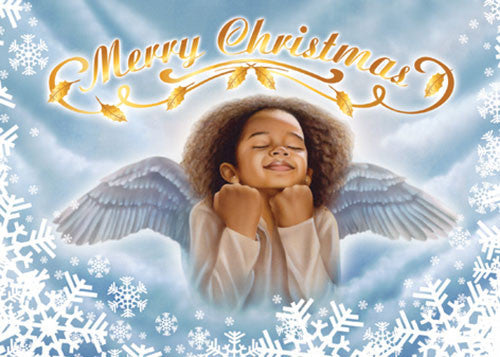 Merry Christmas (Angel): African American Christmas Card