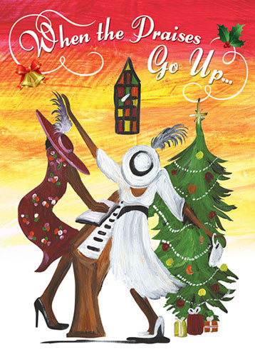 When the Praises Go Up: African American Christmas Card