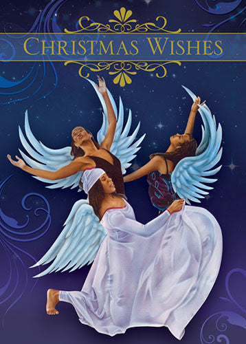 Angels (Christmas Wishes): African American Christmas Card