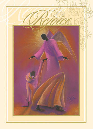 Mary and Angel: African American Christmas Card