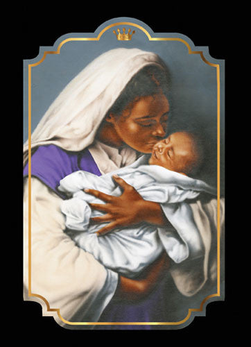 Mother and Child: African American Christmas Card