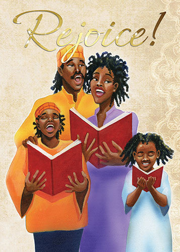 Family (Rejoice): African American Christmas Card