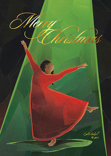 Dancer (Merry Christmas): African American Christmas Card