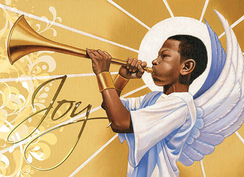 Trumpet (Joy): African American Christmas Card
