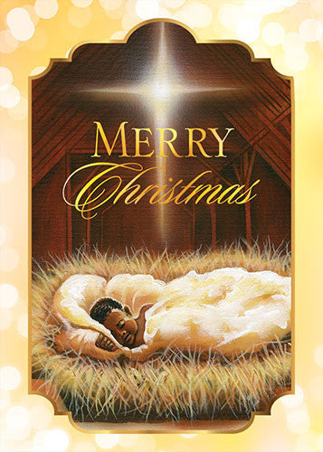 Baby Jesus (Merry Christmas): African American Christmas Card