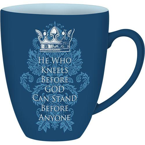 He Who Kneels: African American Religious Drum Mug (Front)