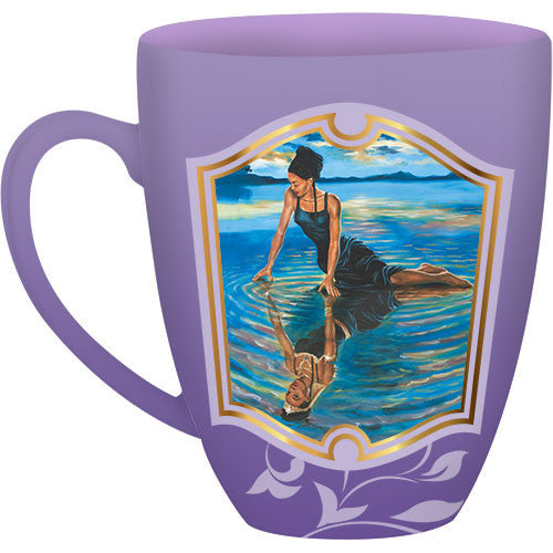 Reflections of a Queen: African American Religious Drum Mug (Front)