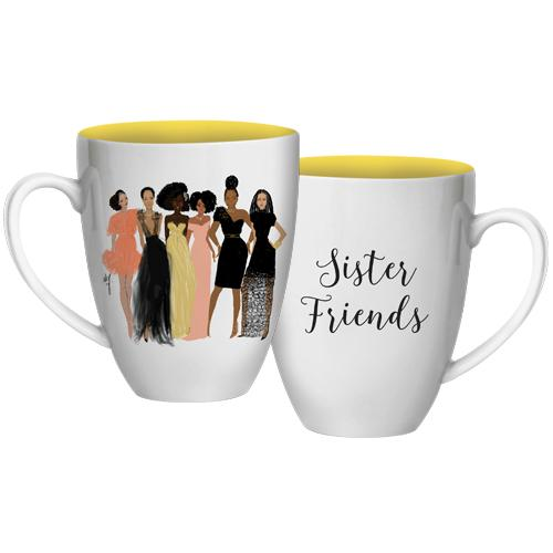 Sister Friends: African American Coffee Mug by Nicholle Kobi