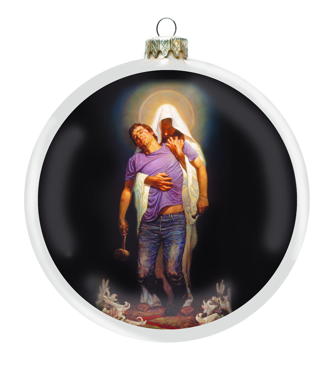 Forgiven Christmas Ornament by Thomas Blackshear (Front)