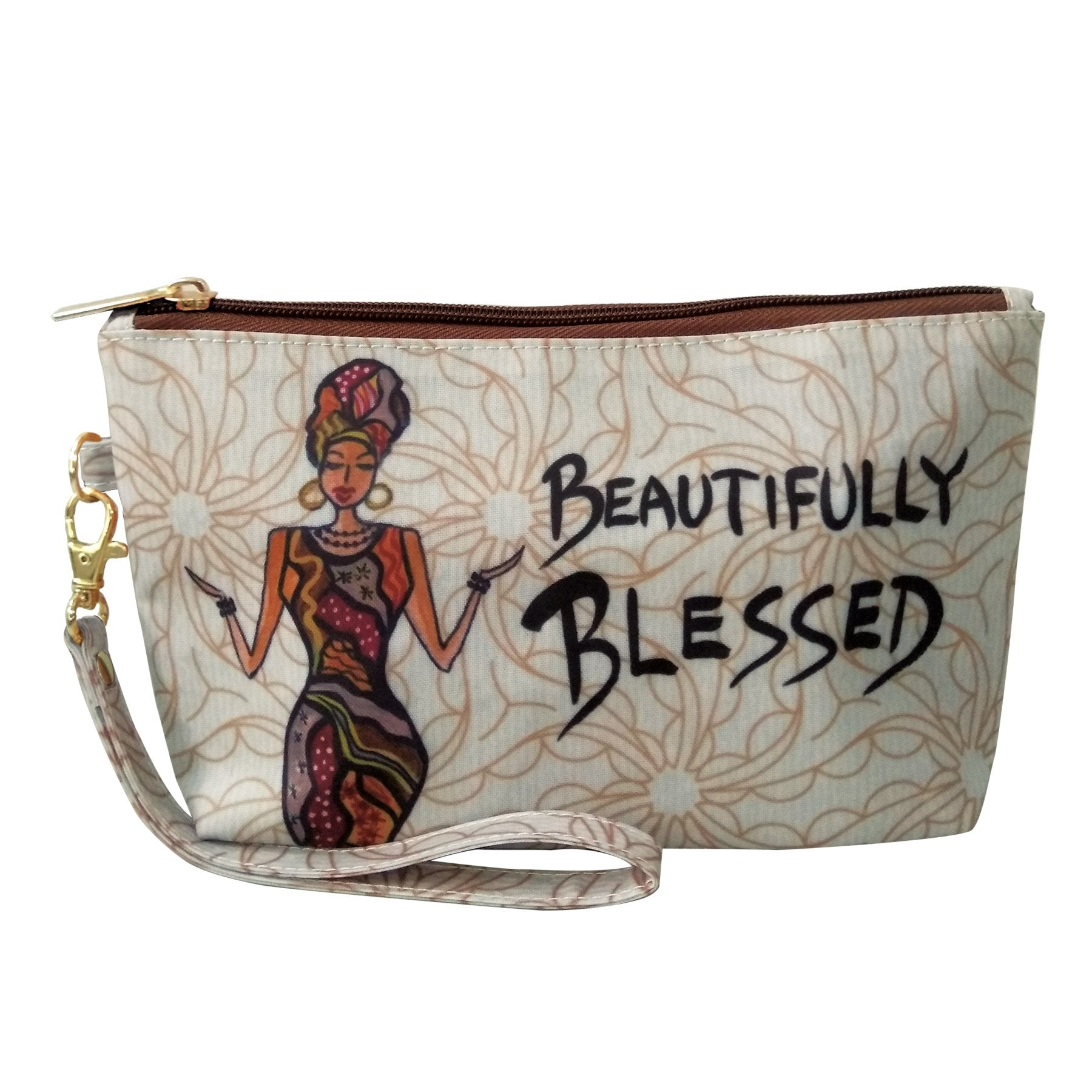 Beautifully Blessed: African American Cosmetic Pouch by Cidne Wallace