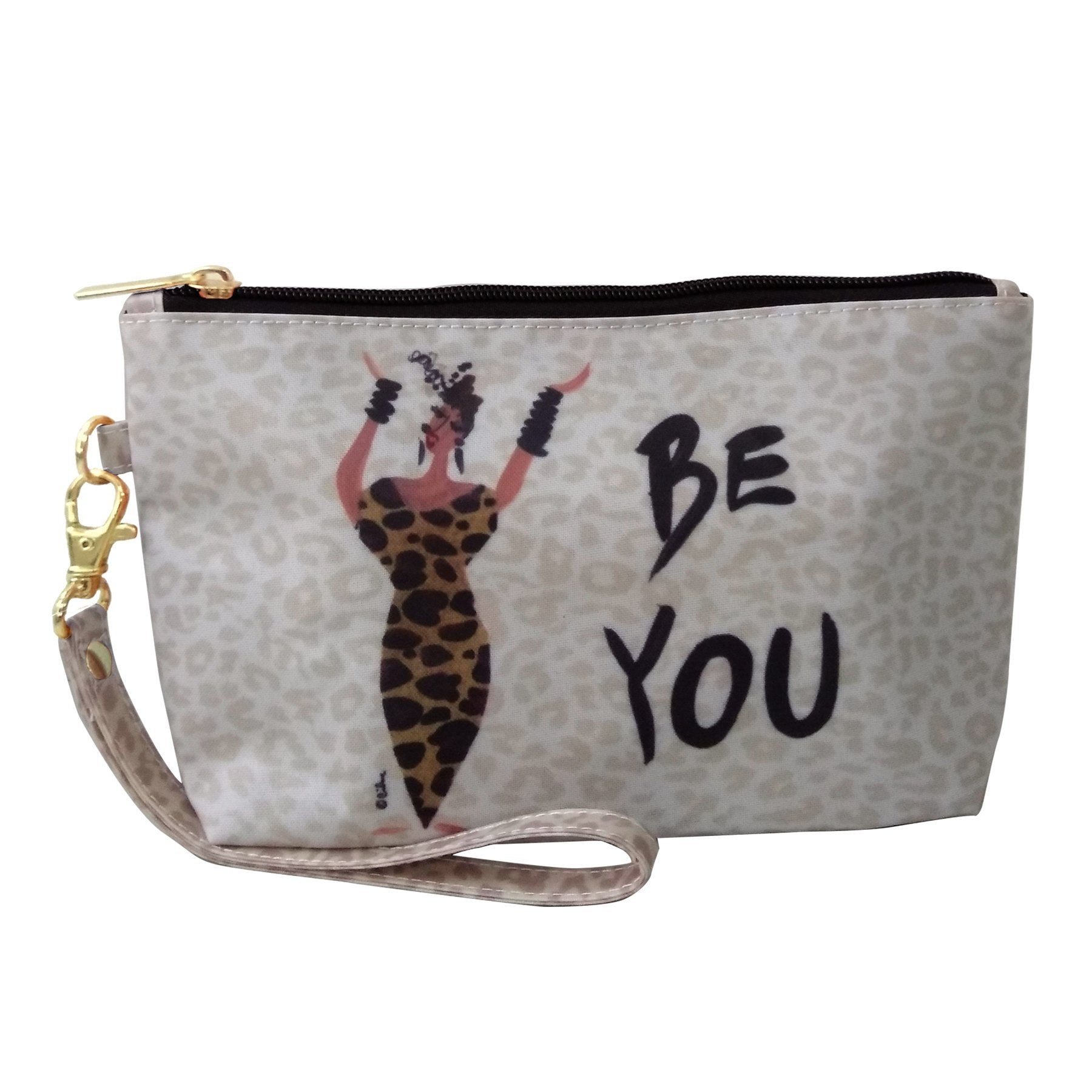 Be You: African American Cosmetic Bag by Cidne Wallace