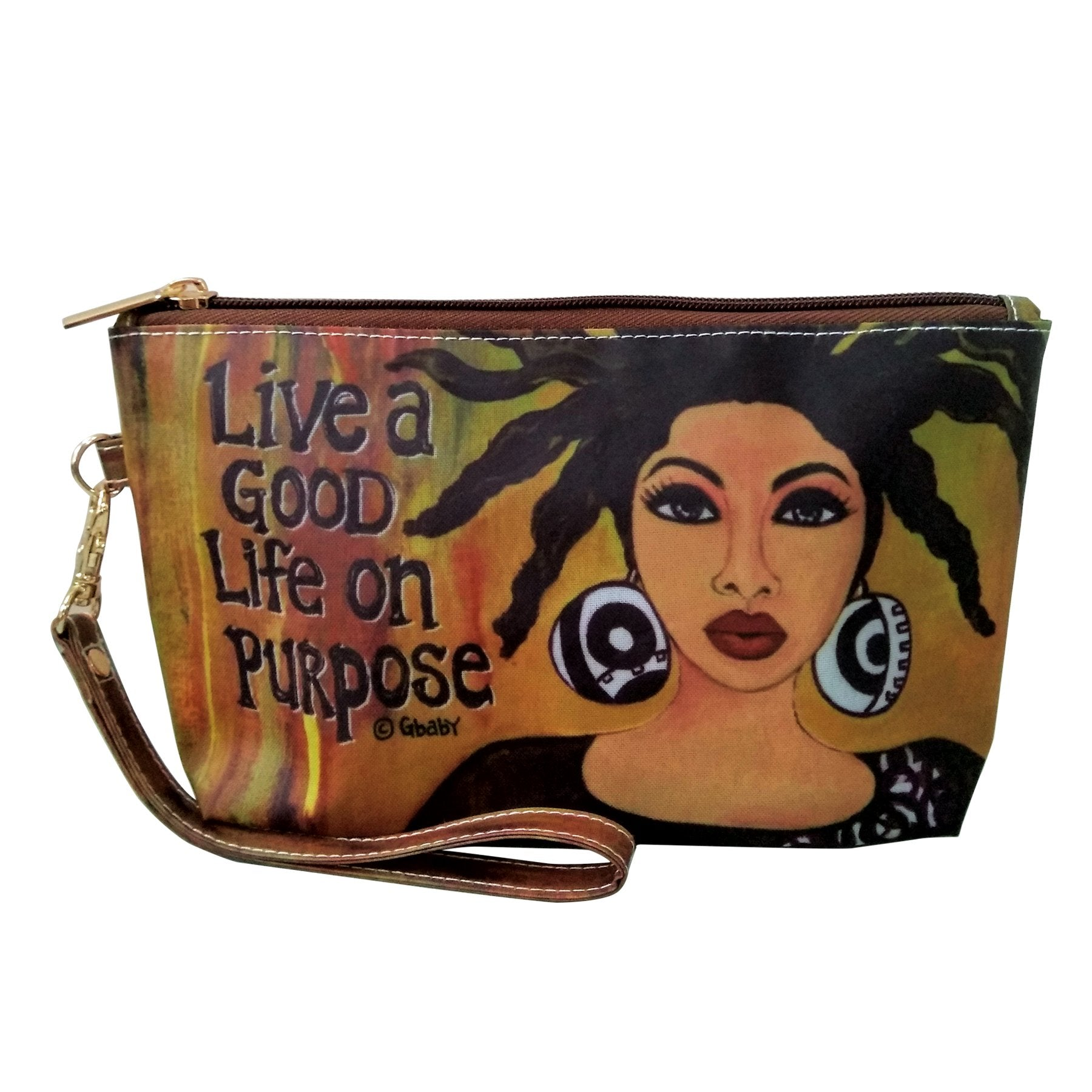 "Life on Purpose: African American Cosmetic Bag by Sylvia ""GBaby"" Cohen"