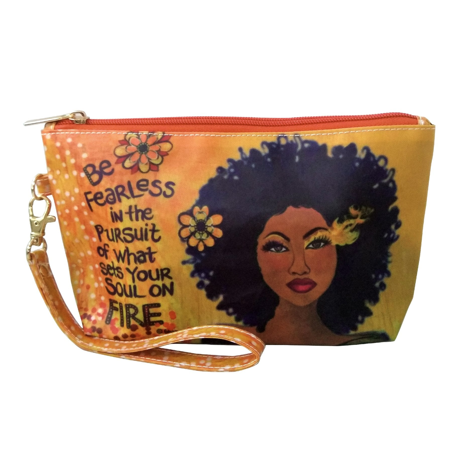 "Soul on Fire: African American Cosmetic Bag by Sylvia ""GBaby"" Cohen"