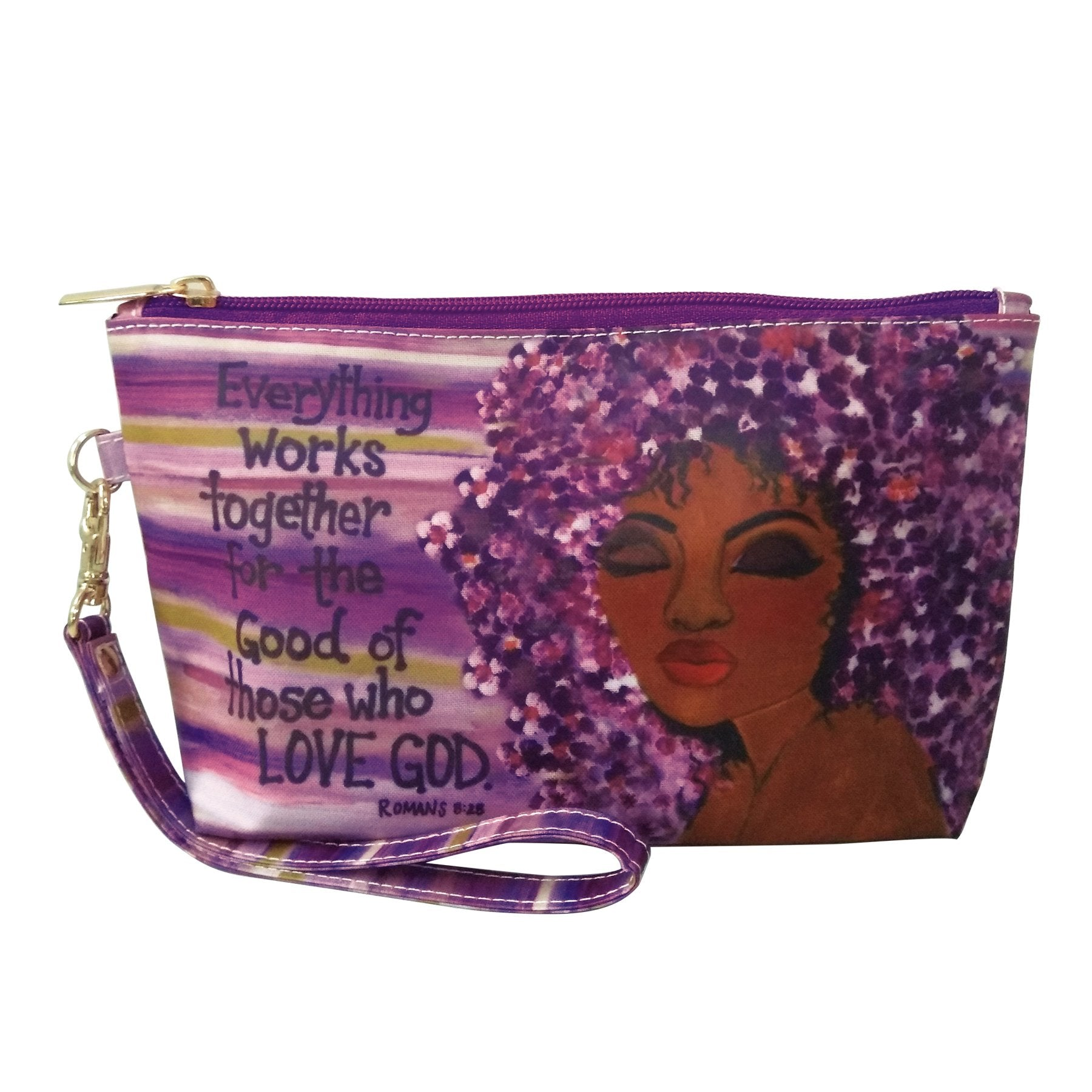 "Love GOD: African American Cosmetic Bag by Sylvia ""GBaby"" Cohen"