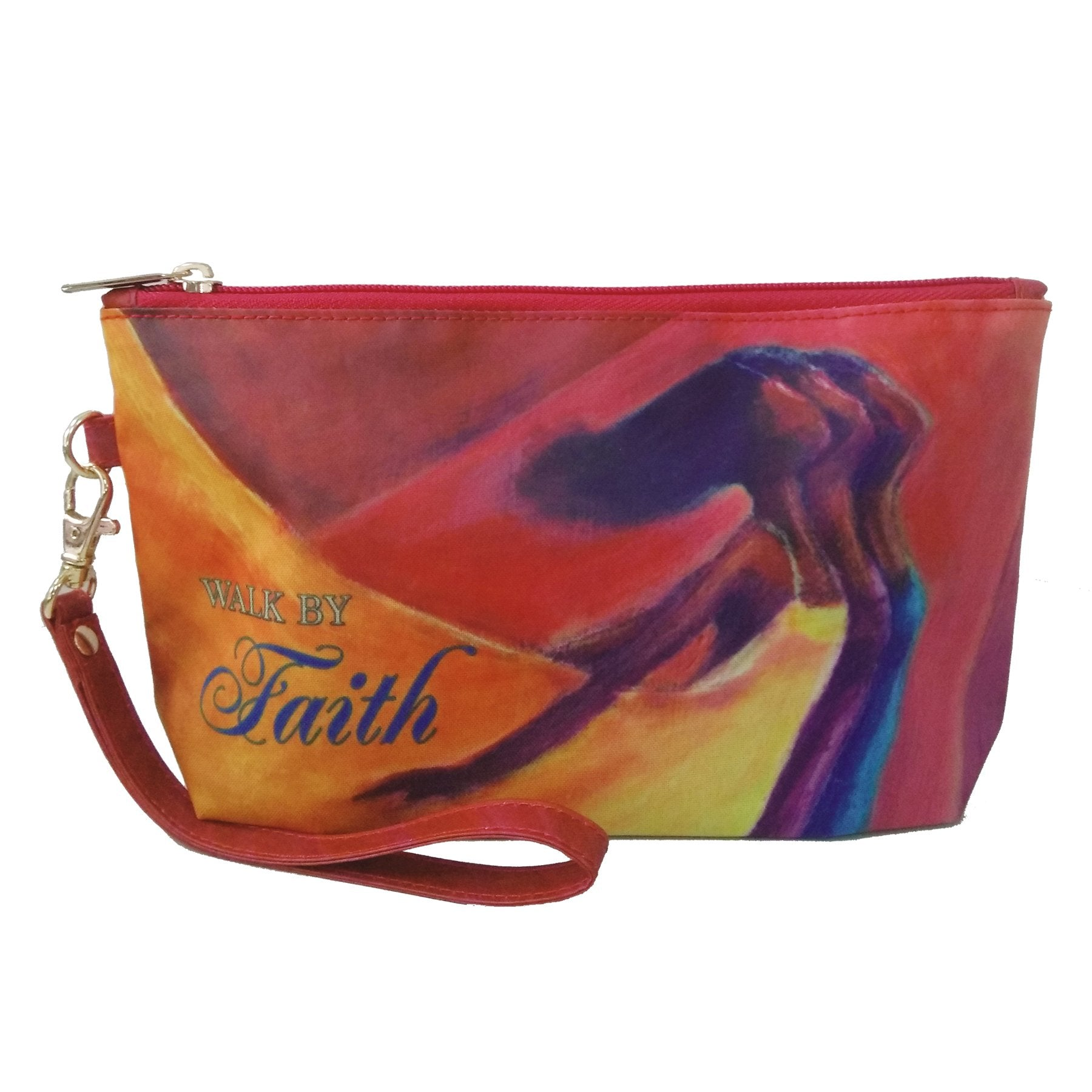 Walk by Faith: African American Cosmetic Bag by Kerream Jones