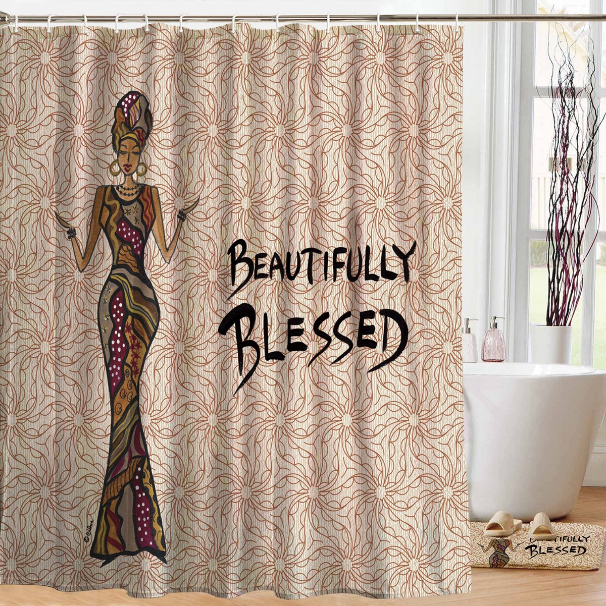Beautifully Blessed: African American Shower Curtain by Cidne Wallace