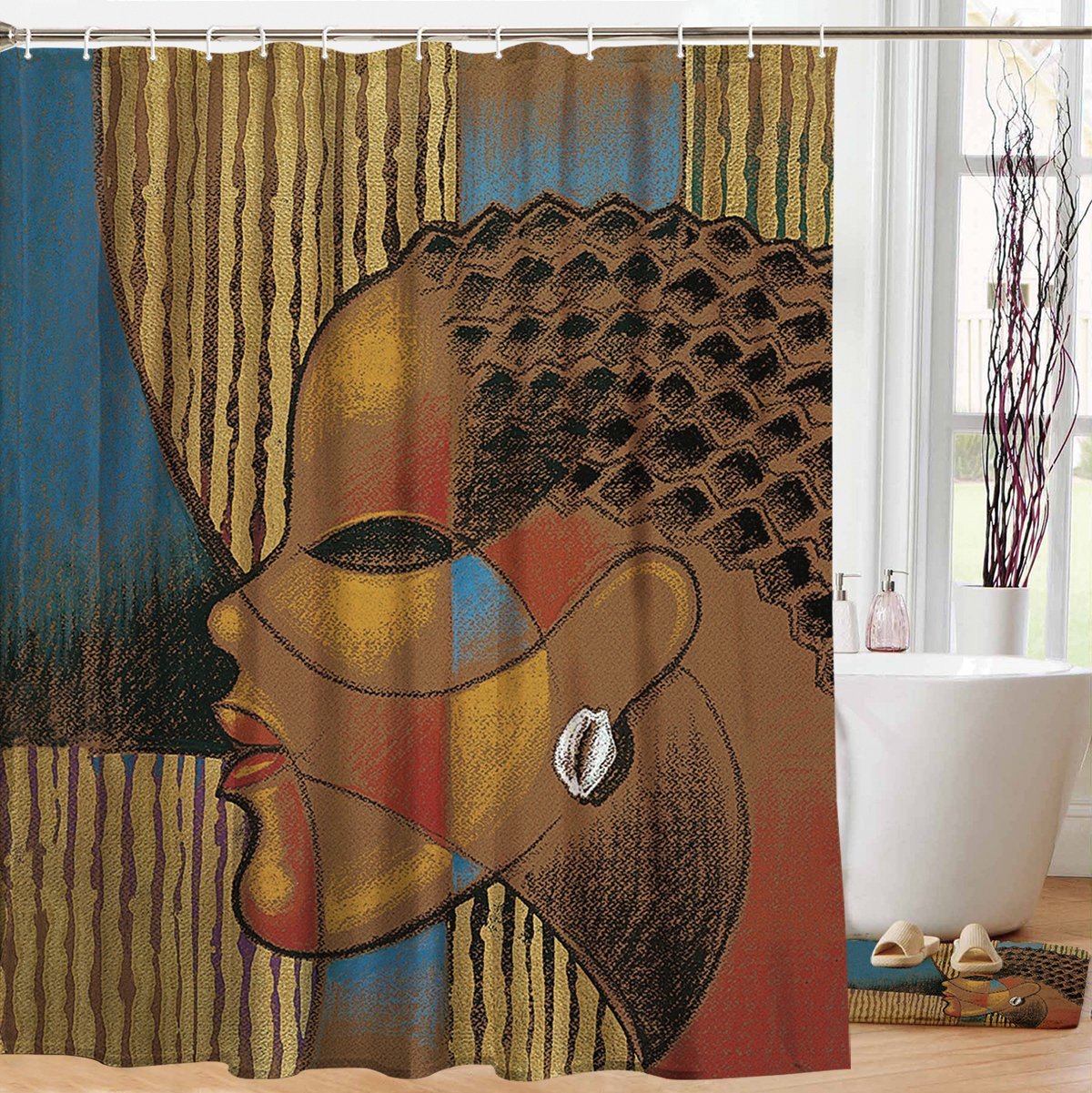 "Composite of a Woman: African American Shower Curtain by Larry ""Poncho"" Brown"