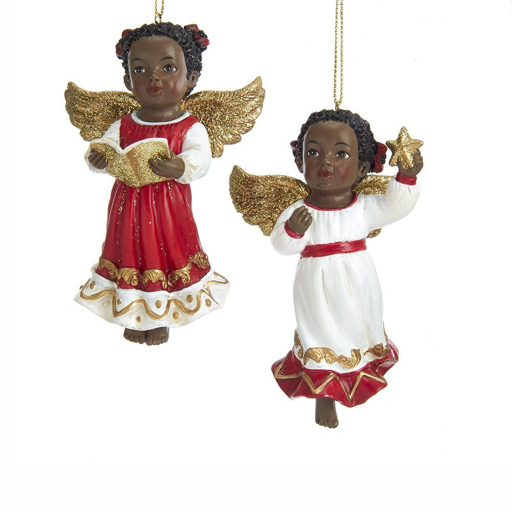 Golden Wings: African American Angelic Christmas Ornaments
