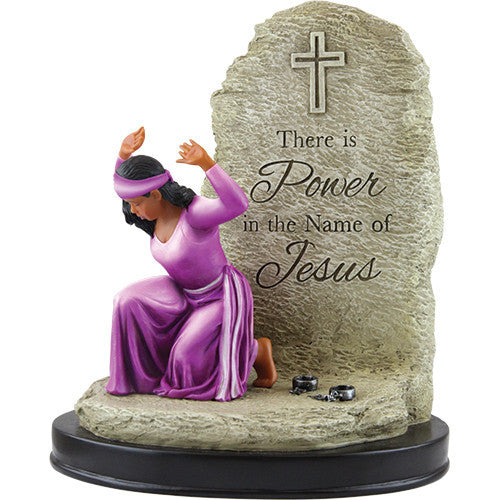 There is Power in the Name of Jesus Figurine by African American Expressions