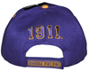 Omega Psi Phi Printed Brim Adjustable Baseball Cap by Big Boy Headgear (Back)