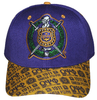 Omega Psi Phi Printed Brim Adjustable Baseball Cap by Big Boy Headgear (Front)