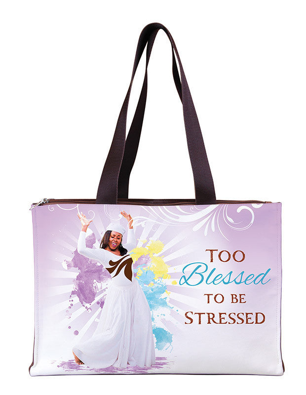 Too Blessed to be Stressed: African American Hand Bag by Gregory Perkins