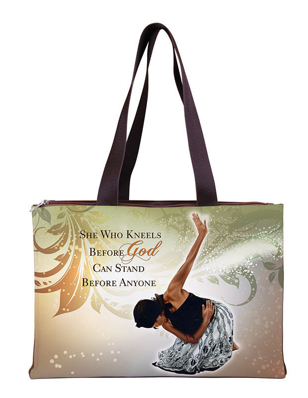 She Who Kneels: African American Hand Bag by Gregory Perkins