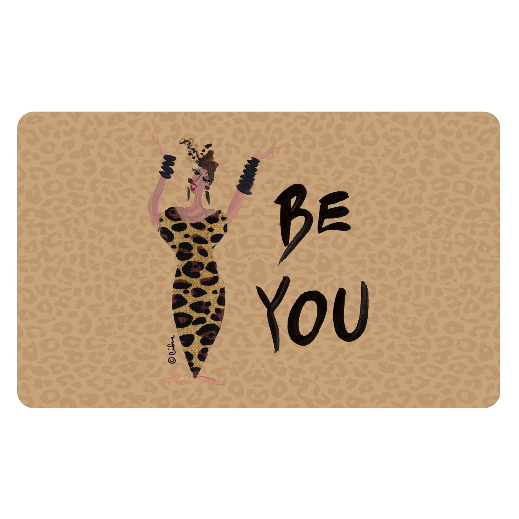 Be You: Cidne Wallace Interior Floor Mat by Shades of Color