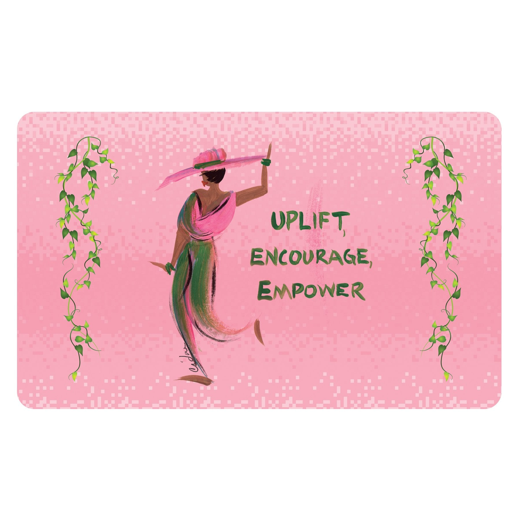 Uplift, Encourage and Empower: Alpha Kappa Alpha Interior Floor Mat