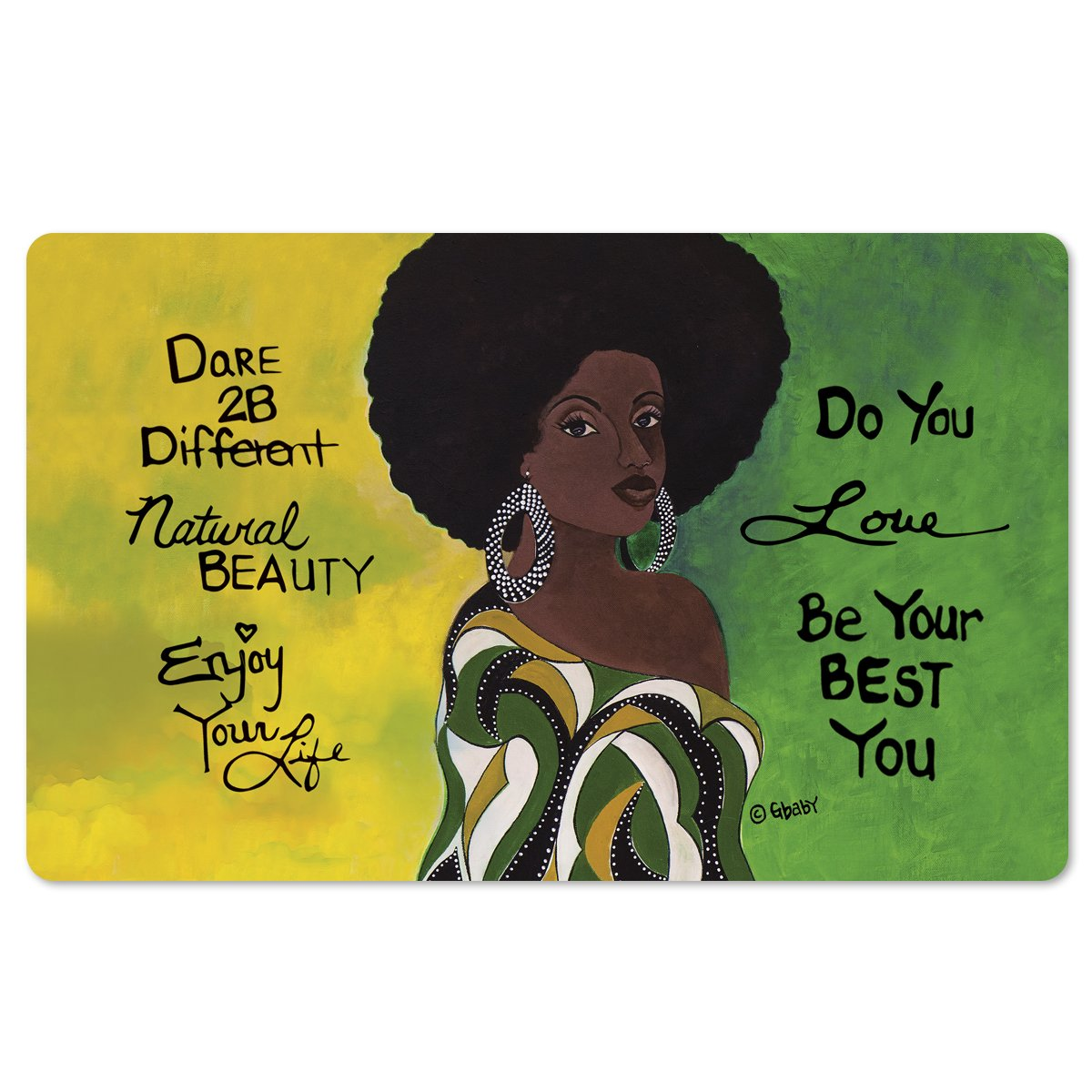 "Dare 2B Different: African American Interior Floor Mats by Sylvia ""Gbaby"" Cohen"
