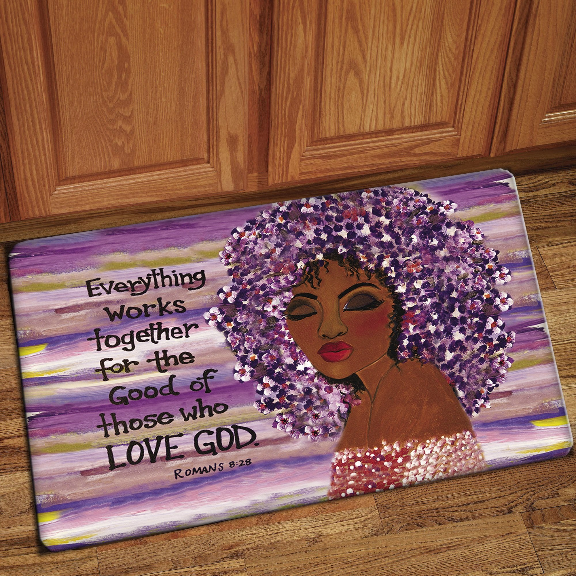 "Love GOD: African American Interior Floor Mat by Sylvia ""Gbaby"" Cohen"