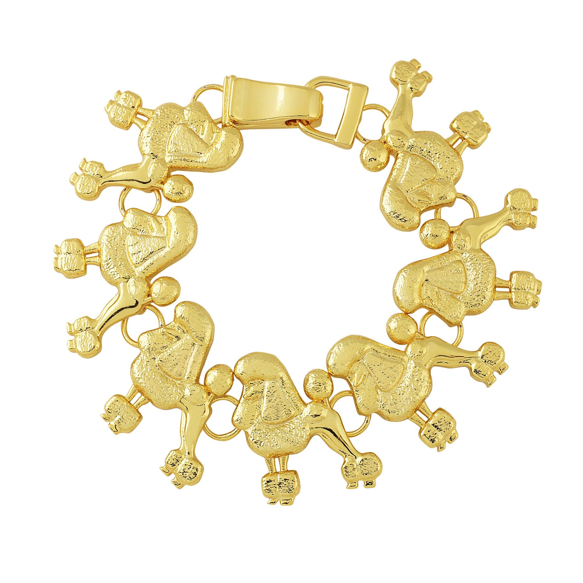 Sigma Gamma Rho Inspired Elegant Poodle Gold Tone Hinge Bangle