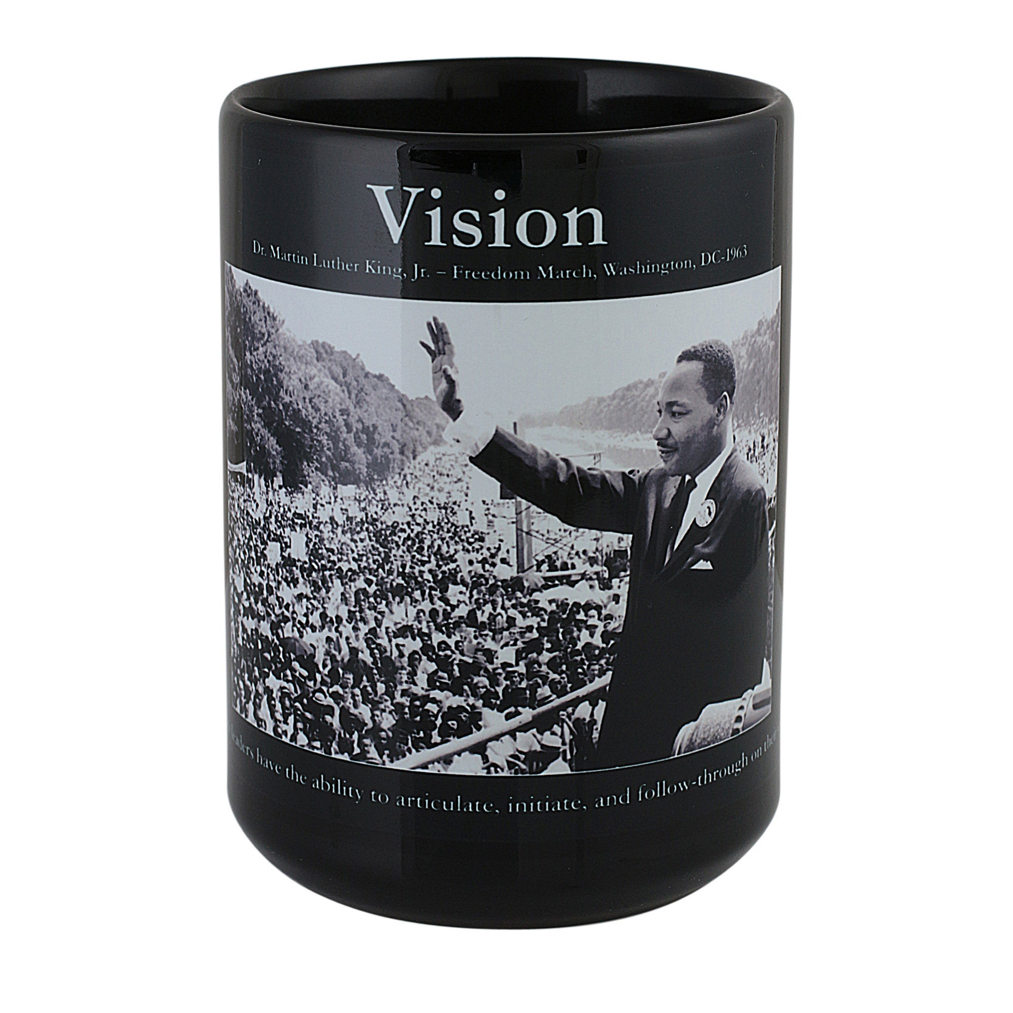 Vision: Dr. Martin Luther King Jr. Motivational Mug (Front)
