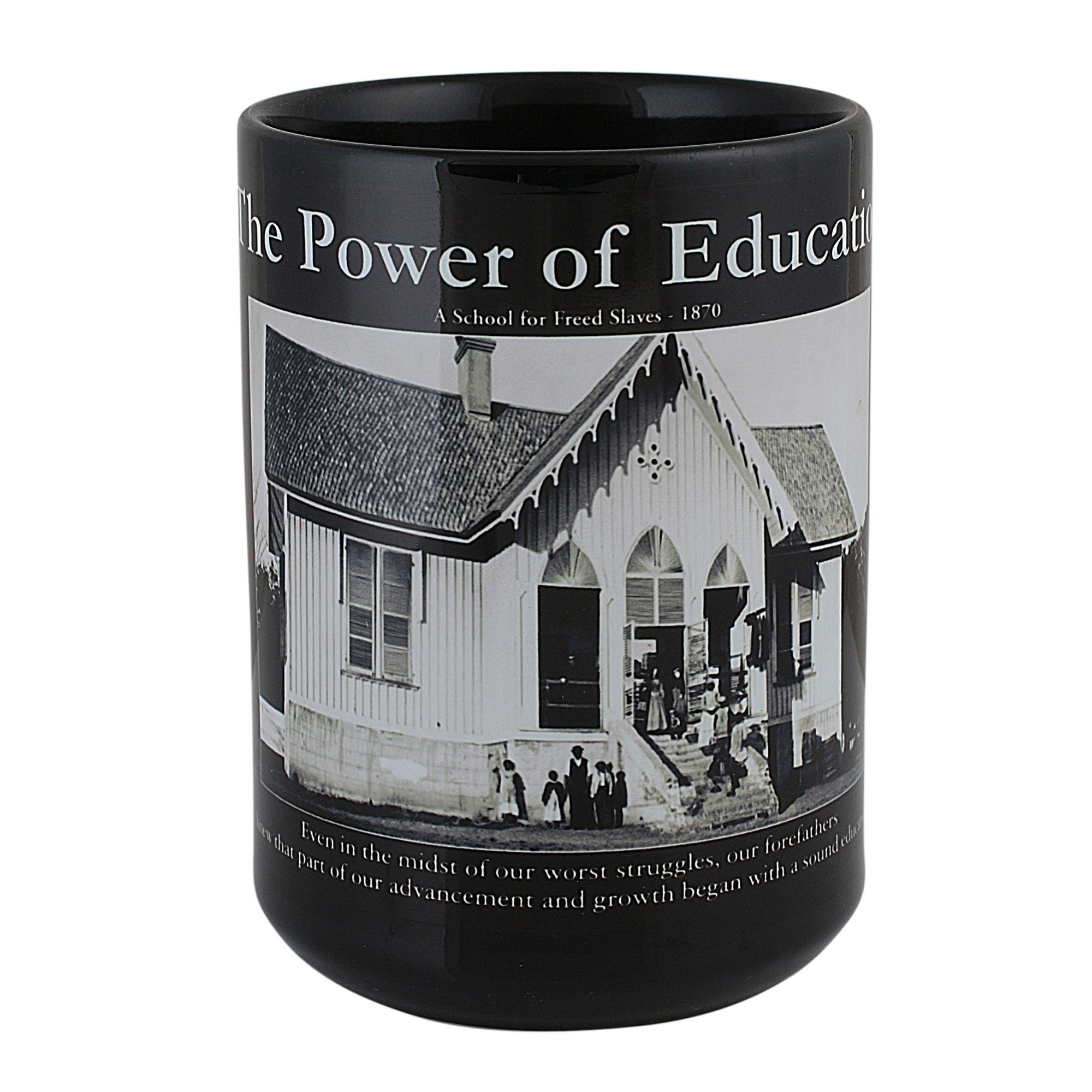 Power of Education: African American Motivational Mug (Front)