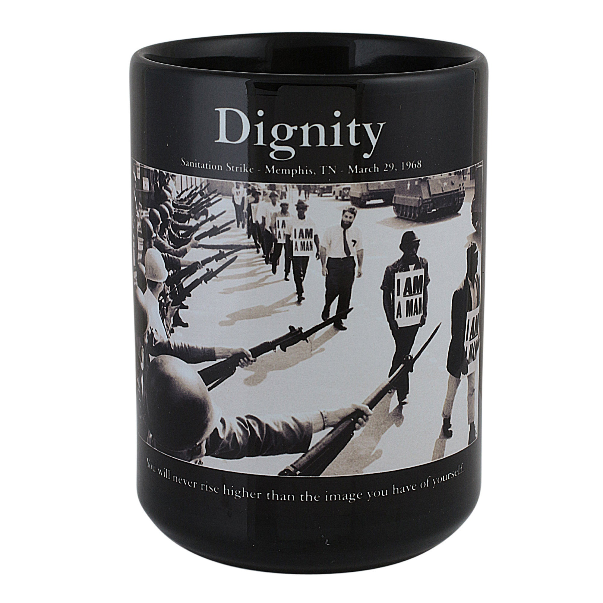 Dignity: The Memphis Sanitation Strike of 1968 (African American Motivational Mug)